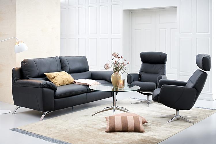 Image of   Matera 3 pers. sofa og 2 stk Stockholm lænestole