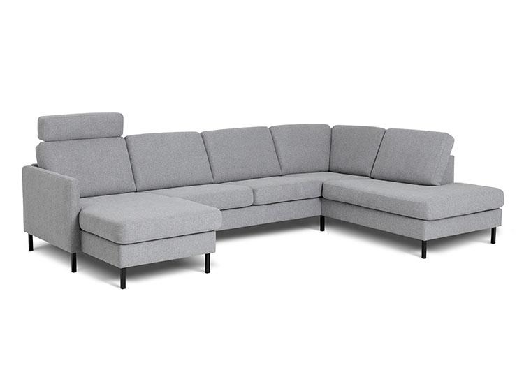 Visby sofa med open end og chaiselong