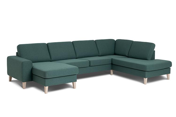 Visby sofa med chaiselong og open end